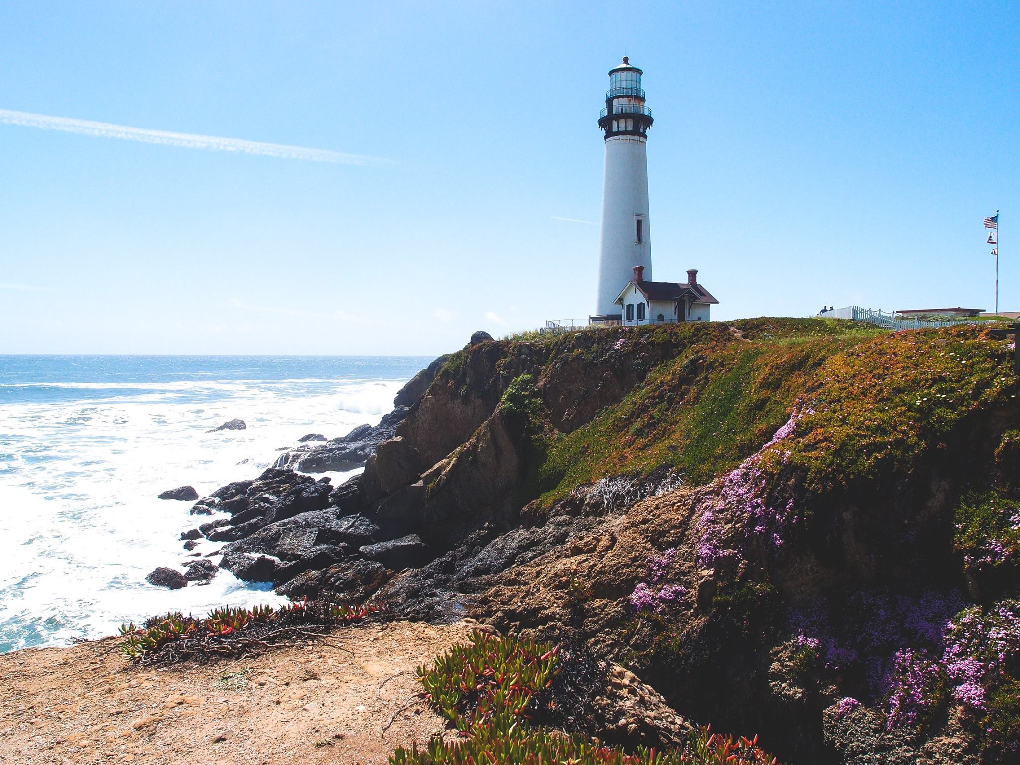 A Cove And A Lighthouse